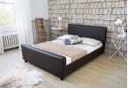 TUSCANY LEATHER SLEIGH BED