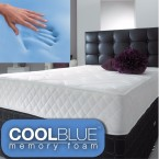cool blue memory foam spring mattress
