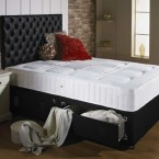 chesterfield divan bed with spring memory foam mattress