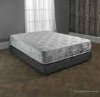 velvet border coil spring & memory foam mattress
