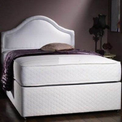 Quilted Divan Bed base with Quilted Memory Foam Coil Spring Mattress
