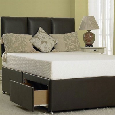 Divan Leather Bed Base Only