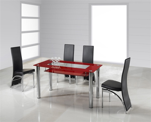 Rimini Large Glass Dining Table Dining Table And Chairs Glass