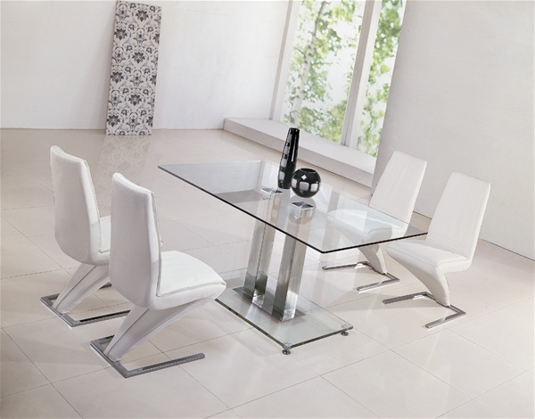 Amazing Jet Glass Dining Table And Z Chairs Glass Dining Table And Machost Co Dining Chair Design Ideas Machostcouk
