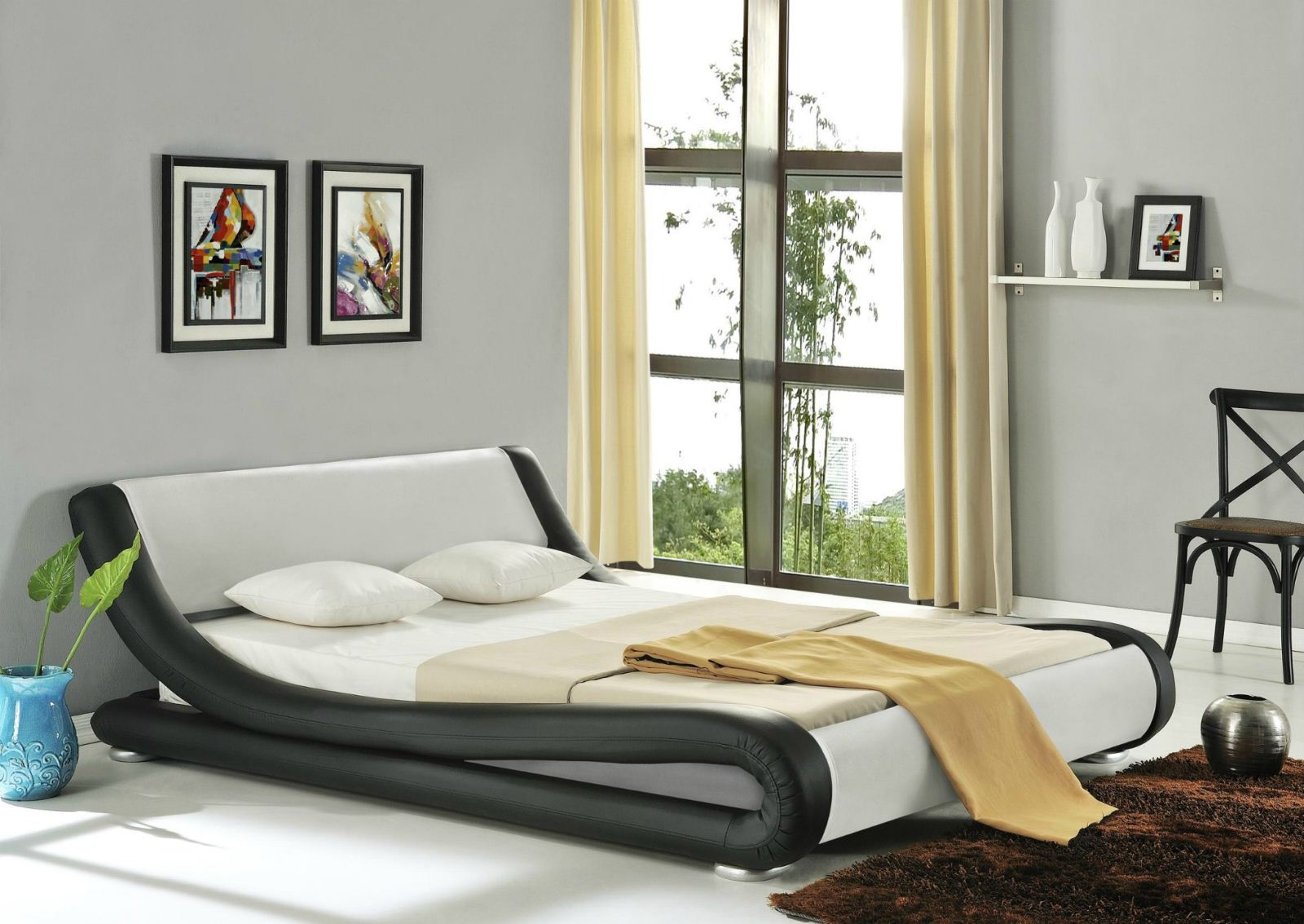 Amari Modern Designer Leather Bed